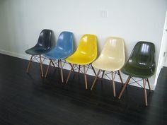 eames shell chair fiberglass restoration herman miller plastolux modern