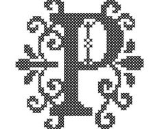 Cross Stitch Pattern Formal Letters for by oneofakindbabydesign