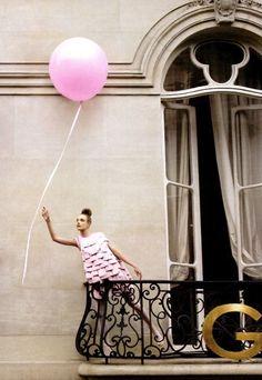 Natalia Vodianova; Pink Balloon