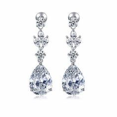 Marquise Round Pear Drop Earrings