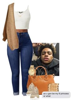 """""""Untitled #342"""" by muvaaliyah ❤ liked on Polyvore featuring Mestige, Tory Burch, NIKE, River Island and H&M"""