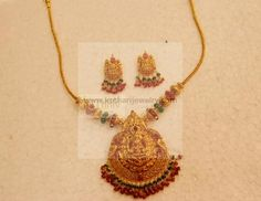 This is perfect Gold Temple Jewellery, Gold Jewellery Design, Antique Jewellery, Gold Necklace Simple, Gold Jewelry Simple, Kerala Jewellery, India Jewelry, Gold Earrings Designs, Gold Designs