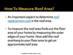 Measuring Roof Area