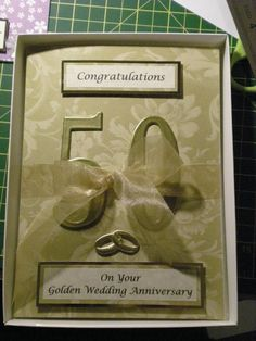 50th Wedding Anniversary Card (c) Cathouse-Graphics 2013