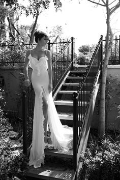 Julie Vino- 2013 Bridal collection- Muslin dress with front slit
