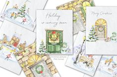 Christmas Home, Christmas Holidays, Christmas Wreaths, Pop Art Girl, Floral Skull, Brick And Stone, Halloween Design, Christmas Pictures, Graphic Illustration
