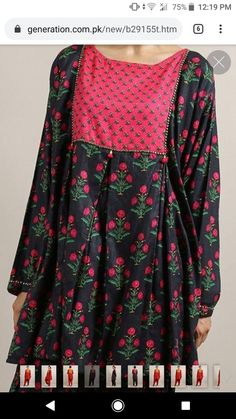 Much better Girls Dresses Sewing, Stylish Dresses For Girls, Stylish Dress Designs, Elegant Dresses For Women, Designs For Dresses, Trendy Clothes For Women, Simple Dresses, Casual Dresses, Latest Pakistani Dresses