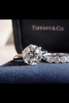 Classic Tiffany & Co. Wedding Ring & Band. Beautiful!