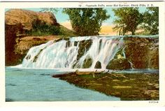 Cascade Falls, near Hot Springs, SD, was a magical swimming hole for any kid (or grown up). Cascade Falls, Swimming Holes, South Dakota, Hot Springs, Niagara Falls, Trip Planning, Sd, Places To Go, Waterfall
