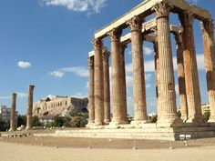 Olympian Zeus Time: Also known as Olympeion, the temple in honor of Zeus began to be built in the century. VI B.C and was completed by Hadrian in 124 A.D. Originally there were 104 columns and inside the temple was God's a colossal statue of Zeus, king of the gods.