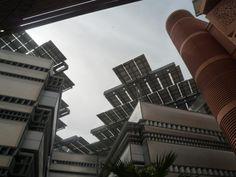 Masdar module overhangs.