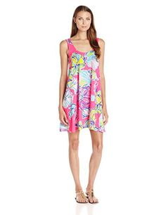 Lilly Pulitzer Women's Carmel Dress, NP Kir Royal Pink Swept by the Tides, Small - Brought to you by Avarsha.com