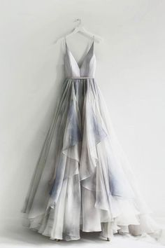 On Sale Colorful Backless Prom Dresses, A-Line Spaghetti Straps Backless Silver Prom Dress With Ruffles Backless Prom Dresses, Grad Dresses, Dress Prom, Long Casual Dresses, Dresses Dresses, Fall Dresses, Simple Dresses, Summer Dresses, Pretty Dresses