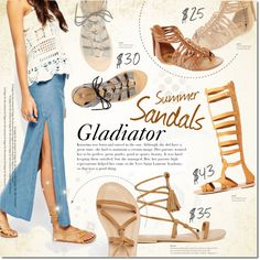Summer Sandals by justlovedesign on Polyvore featuring Charlotte Russe, Arizona, River Island and summersandals
