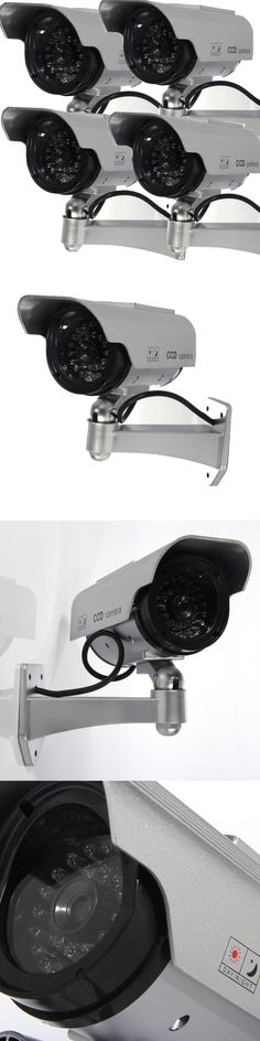 Dummy Cameras: Masione 4 Pack Solar Powered Fake Dummy Security Camera With Blinking Led Light BUY IT NOW ONLY: $36.89