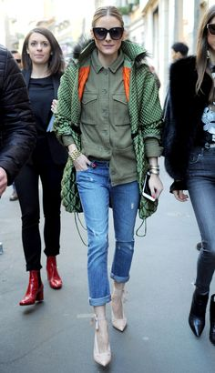Olivia Palermo's Cropped-Jeans Outfit Will Make Your Legs Look So Long via @WhoWhatWear