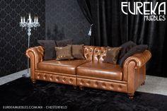 Sala chesterfield en http://www.eurekamuebles.com.mx