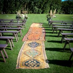 "Persian Rugs as the Aisle for Outdoor Wedding Ceremony, Johnny Was Clothing ""The Faerie-Tale Wedding... Reimagined"" LookBook #bohobride #johnnywas"