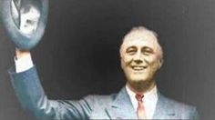 """. Upon his nomination at the party convention, the band initially played """"Anchors Aweigh"""" as a nod to FDR's former stint as assistant secretary of the Navy. Roosevelt's advisors, however, quickly switched to a more upbeat, popular song of the day: """"Happy Days Are Here Again."""" Roosevelt's campaign quickly co-opted the tune as its slogan, and FDR easily defeated incumbent Herbert Hoover on Election Day. Click and play"""