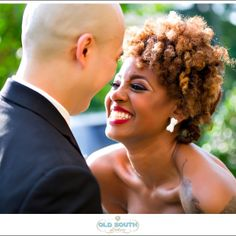 Phylicia (Natural Hair Bride) and her husband sharing a special moment