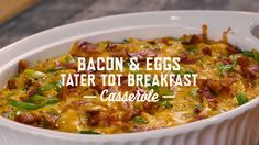 Planning a holiday brunch? Southern Bite made a Breakfast Casserole that's loaded with Kiolbassa Smoked Bacon to give you a bold start to your day! Tater Tot Breakfast Casserole, Slow Cooker Breakfast, Bacon Breakfast, Best Breakfast, Smoked Sausage Recipes, Bacon Sausage, Smoked Bacon, Brunch Recipes, Breakfast Recipes