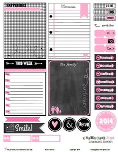 FREE Chalkboard Pink Printables .. LOVe it! ....Follow for Free 'too-neat-not-to-keep 'literacy tools  fun teaching stuff :)