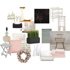 Woodsy-Neutral Baby Nursery by paige-abbott on Polyvore featuring interior, interiors, interior design, home, home decor, interior decorating, Restoration Hardware, Abbyson Living, Dash & Albert and Pottery Barn