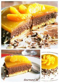 dessert ig bas, mousse chocolat orange, agar agar, gâteau chocolat orange Dessert Ig Bas, Vegan Cake, Agar Agar, Cheesesteak, Chocolate Cake, Biscuits, Cheesecake, Food And Drink, Sweets