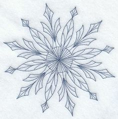 Intricate Ice Snowflake 2 (Bluework)