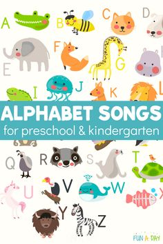 Singing alphabet songs is an easy, and very fun, way to increase kids' alphabetical awareness. You definitely want them on your list of ideas about how to teach the alphabet. Preschool Teacher Tips, Preschool Music, Preschool Lesson Plans, Early Learning Activities, Rhyming Activities, Kindergarten Learning, Movement Preschool, Kids Singing, Alphabet Songs