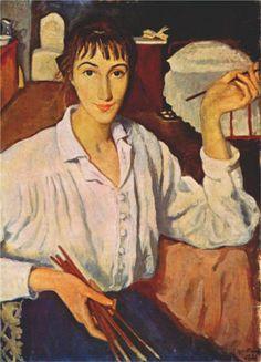 Self-portrait, 1921   Zinaida Serebriakova