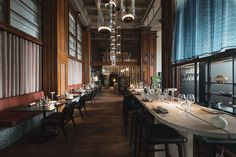 posthotellet restaurang – Google Sök Interior Lighting, Lighting Design, Light Fittings, Creative Design, Light Design, Lighting Accessories, Light Fixture