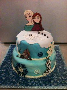 Disney frozen cake by Jen Kwasniak