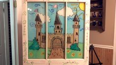 """Hand painted window, baby name plaque. """"A Dream, A Kiss, My Bliss"""" $65.00 + s   Any name any theme available!"""