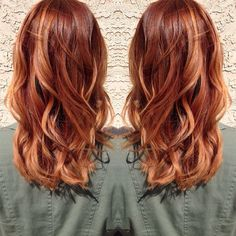 Pictures of copper highlights on blonde hair