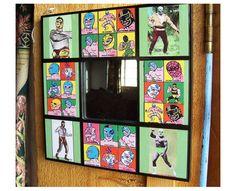 Lucha Libre wall mirror retro vintage by buckaroosmercantile, $20.00