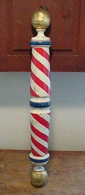 Turned Wooden Barber Pole