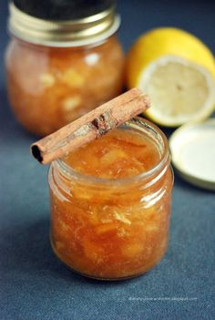 My Diet fad: House jam lemon - Cinnamon Ketchup, Peach Jam, Jam And Jelly, Fruit In Season, Kitchen Recipes, Chutney, Bon Appetit, Good Food, Food And Drink