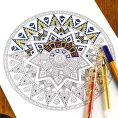 Adult Coloring Pages. Mandala. Zentangle Doodle Coloring