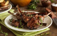Lollipop Lamb Chops with Rosemary Sauce. Channel your inner Mesopotamian when you bite into these mighty lamb chops. These meat pops have a uniquely savory, and robust flavor that cooks hot and fast for a quick meal. Braised Lamb Chops, Grilled Lamb Chops, Lamb Chop Recipes, Meat Recipes, Food Processor Recipes, Lollipop Lamb Chops, Lamb Lollipops, Pasta Al Curry, Rack Of Lamb
