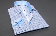10/25/2012 Blue and Grey Checkered Shirt (Double Twisted) #FrenchShirts  http://www.french-shirts.com/product-dress-shirts-blue-and-grey-checkered-shirt-double-twisted-%a0-16906.html