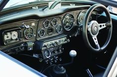 Photo Courtesy: David LaChance The spread of gauges, switches and warning lamps looks like something you'd find in a contemporary Gemini space capsule. It's in the style of a TR4 works rally car, and not original to the Dove.