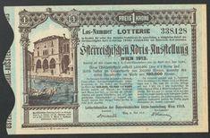 Lotterie Los Österreichische Adria - Ausstellung Wien 1913 SEHR SELTEN | eBay Personalized Items, Ebay, Magdeburg