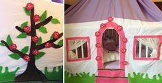 Prinzessinnen Spielhaus von Anna #Nähanleitung #Schnittmuster für eine Kinderhaus aus Stoff zum Spielen oder als Betthimmel für Kinderbetten