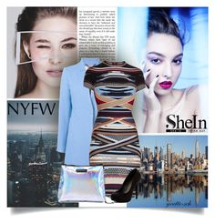 """""""Shein Shoulder Bag"""" by yvette-sch ❤ liked on Polyvore featuring Milly, Hervé Léger and Michael Antonio"""
