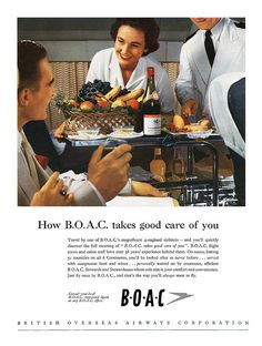 1956 BOAC (British Overseas Airways Corporation) ad.