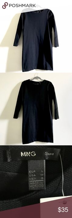 Mango Black Dress A classic black dress, every girl have to have one in their closet. It's new with tags. It stretches a little ;) Mango Dresses Mini