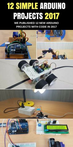 We have added 12 new arduino projects in our arduino projects page. We will add more and more projects in 2017 http://amzn.to/2tmP4iT