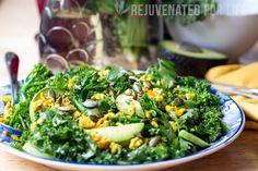 Turmeric Chicken & Kale Salad Recipe | Rejuvenated For Life | Rejuvenated For Life
