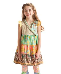 2e820d40a Brown & Green Roller Coaster Tiered Dress - Toddler Jane Clothing, Kids  Clothing, Toddler